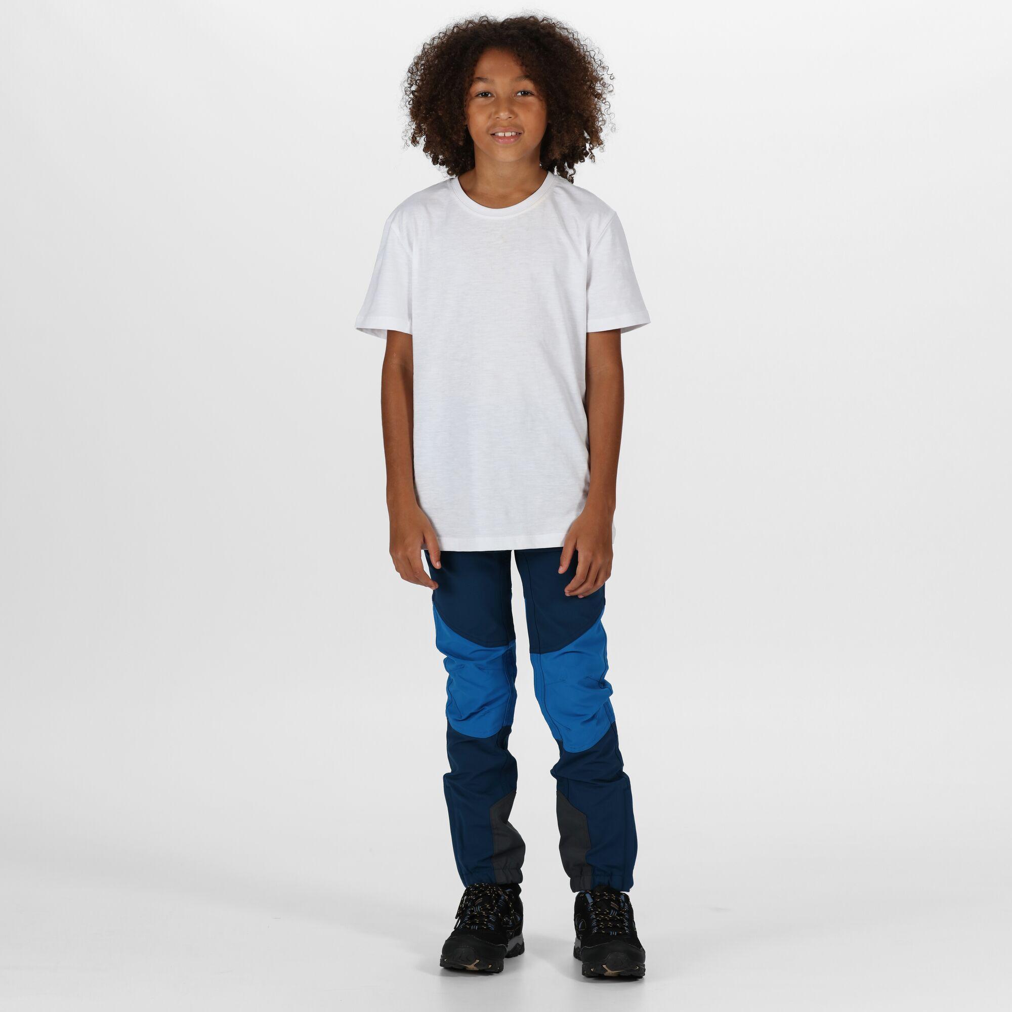 Regatta Kids/' Tech Mountain Stretch Water Repellent Hiking Trousers Blue Grey