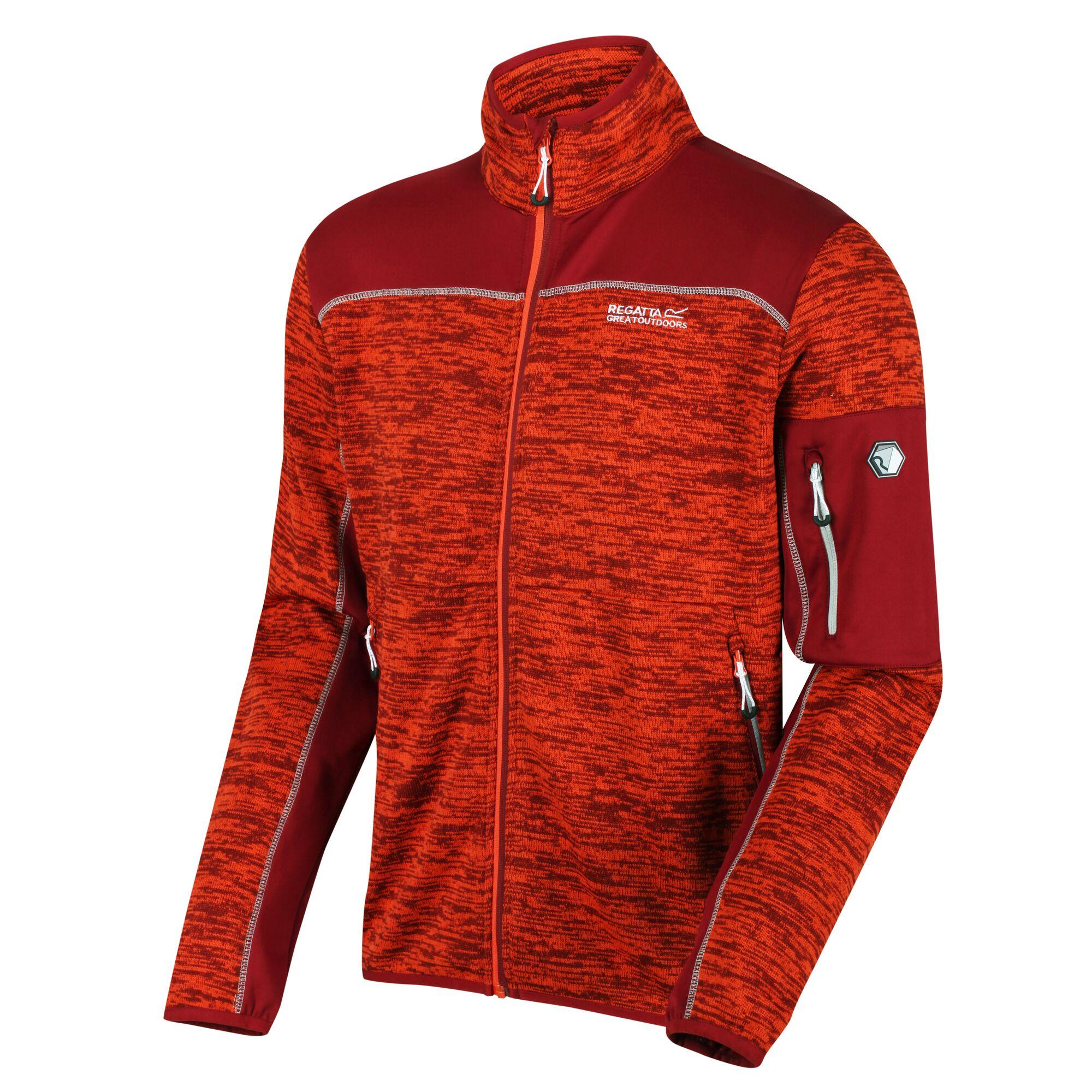 Regatta Men/'s Collumbus VI Heavyweight Full Zip Stretch Fleece Orange