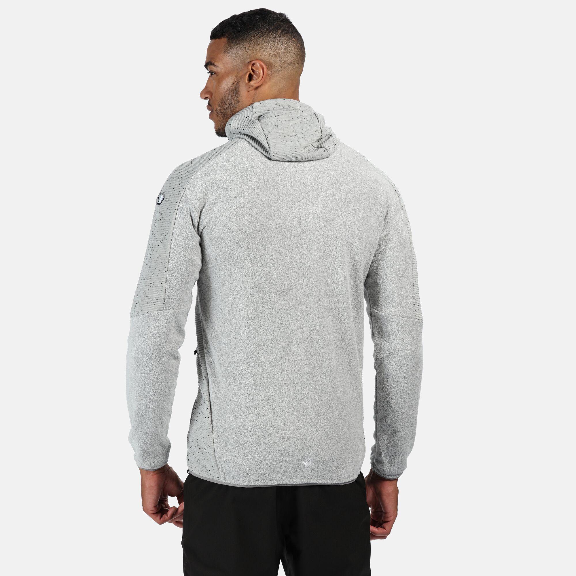 Regatta Men/'s Madagascar Full Zip Heavyweight Hooded Fleece Grey