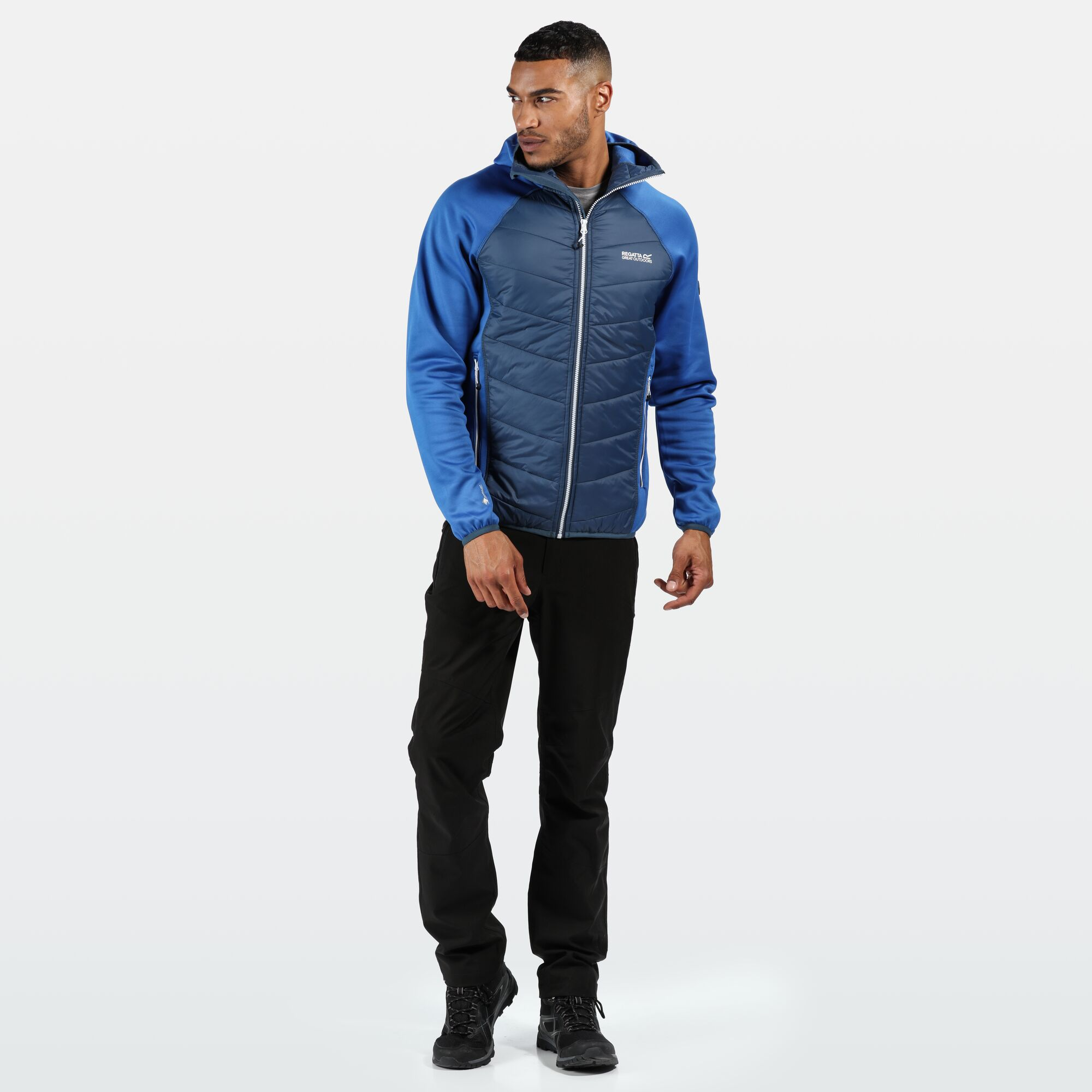 Regatta Men/'s Andreson IV Lightweight Insulated Hybrid Walking Jacket Blue