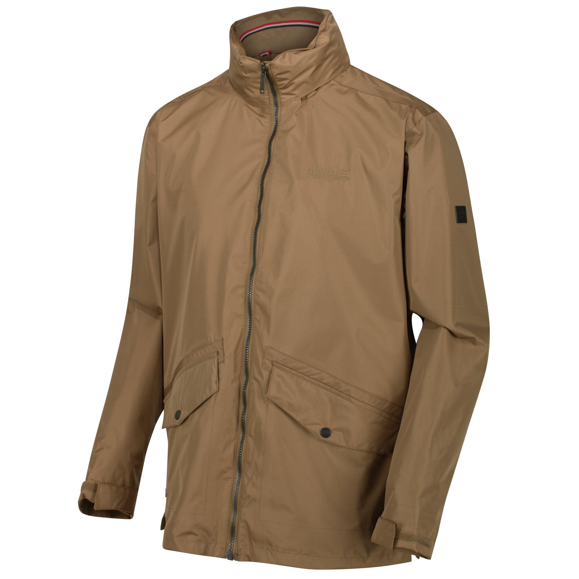 Regatta Men/'s Hartigan Lightweight Waterproof Jacket with Concealed Hood Brown