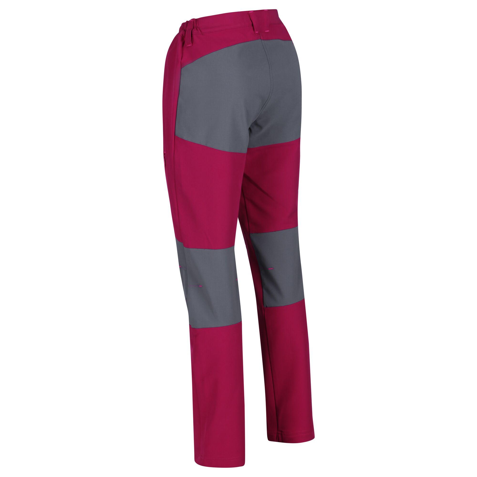 Regatta Women/'s Questra II Multi Pocket Softshell Walking Trousers Purple