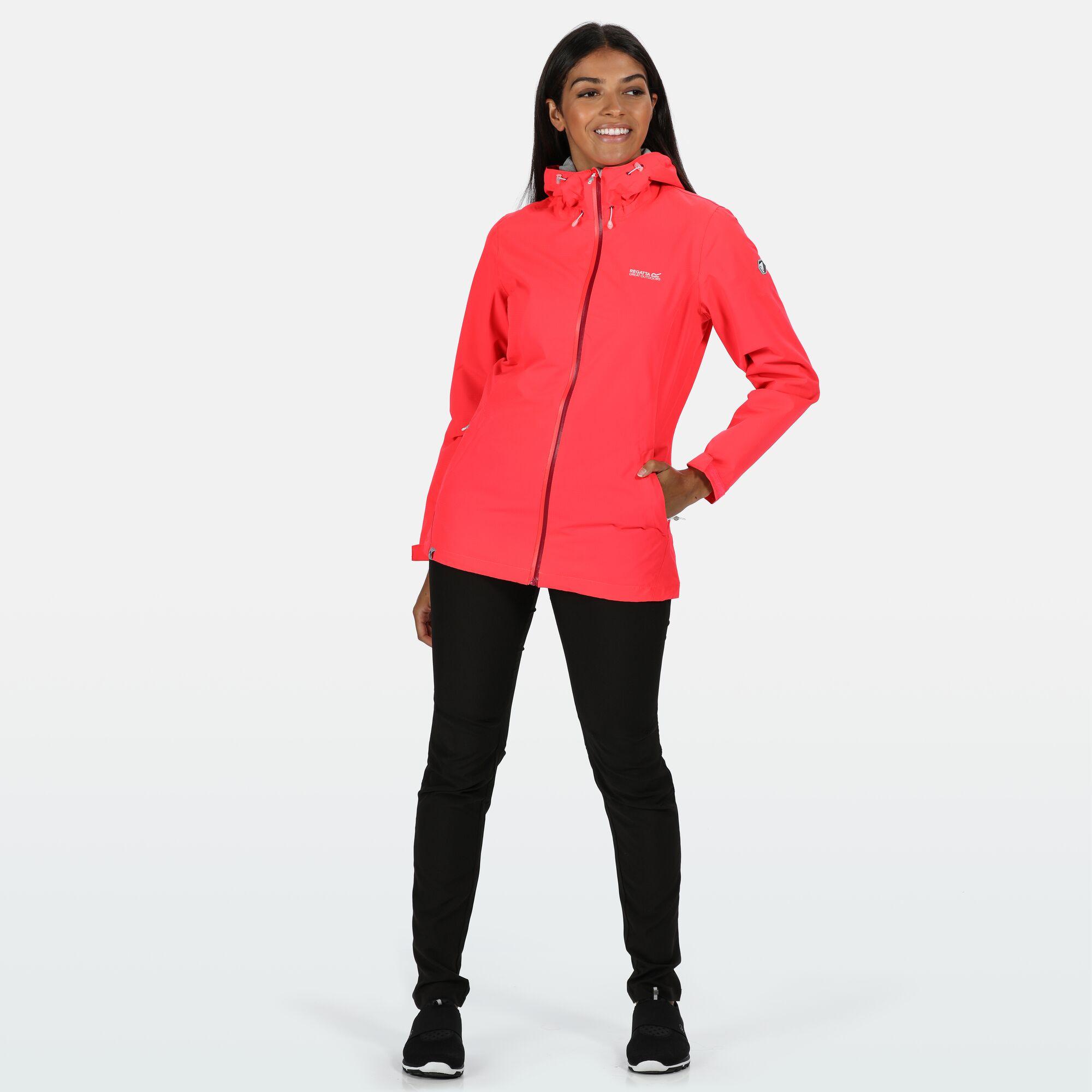Regatta Women/'s Hamara III Lightweight Waterproof Hooded Walking Jacket Pink