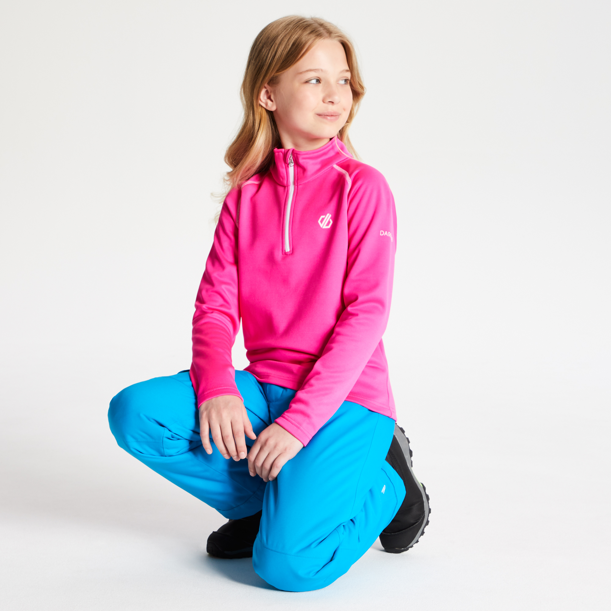 Girls Stretch Fleece  Warm Top Dare 2b Diverted Core Boys mid layer  RRP £20
