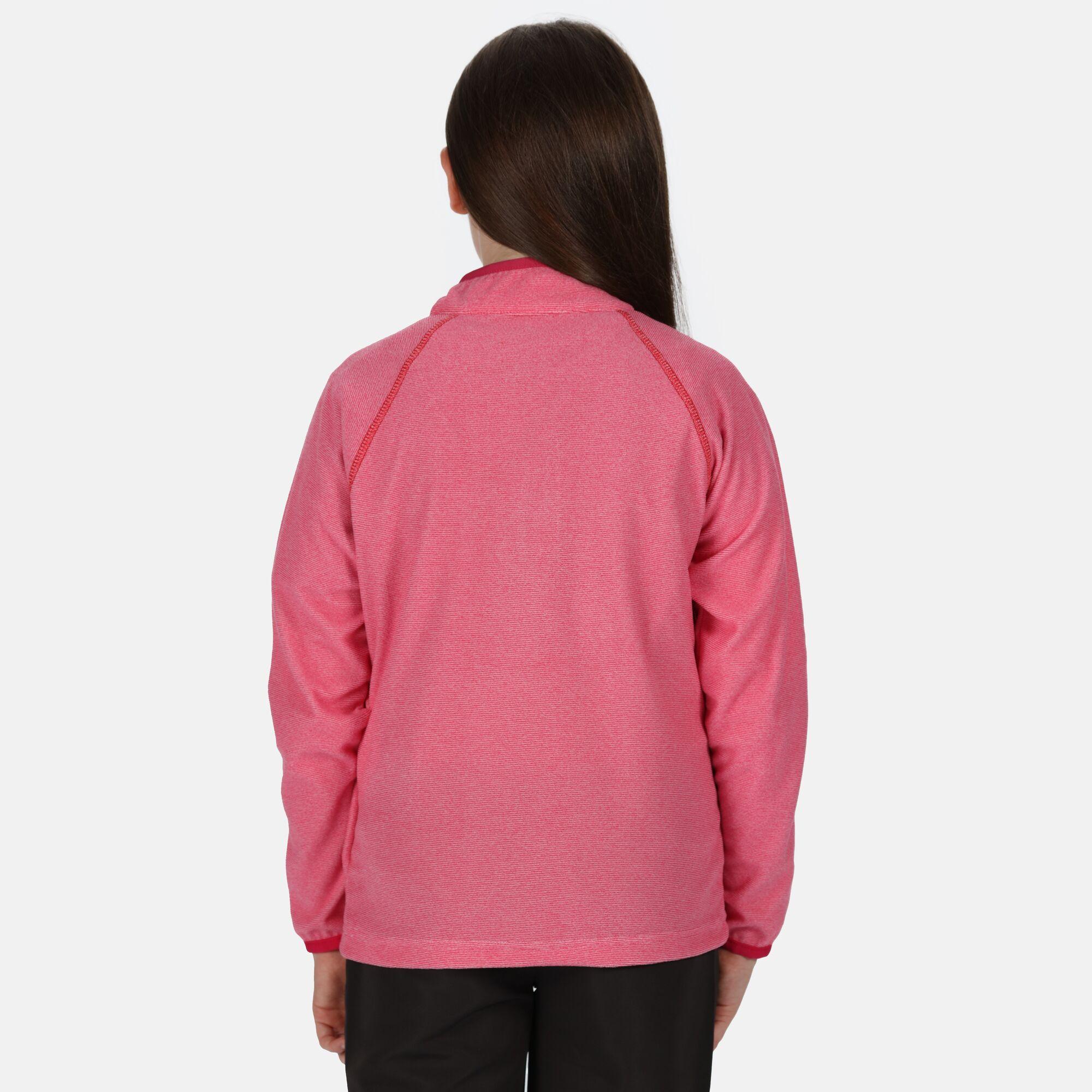 Regatta Girls Dissolver II Hooded Fleece Top Pink Sports Outdoors Full Zip War