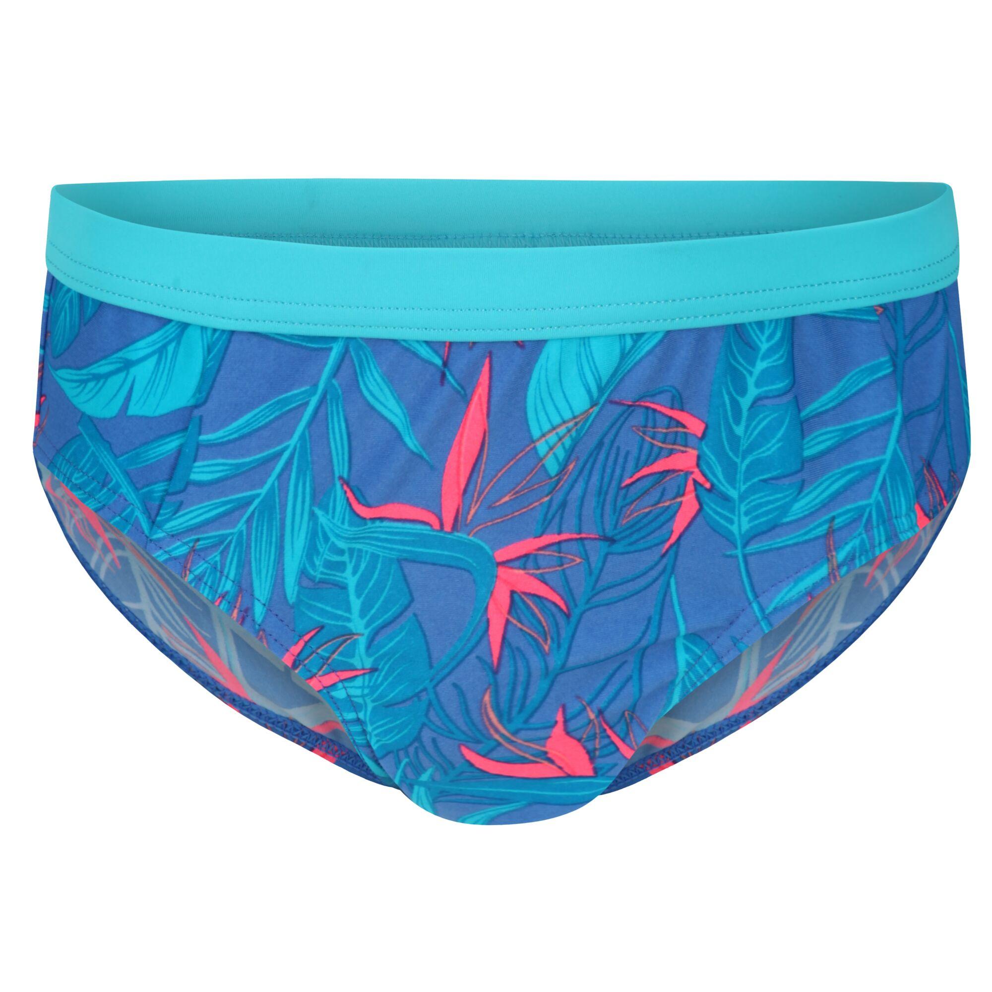 Victoria Blue Regatta Kids Hosanna Print Design Swim Briefs