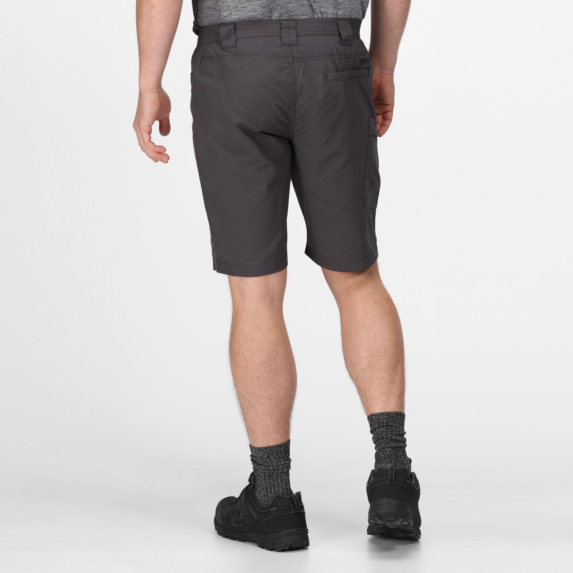 Regatta Men/'s Salvator Coolweave Cotton Walking Shorts Seal Grey