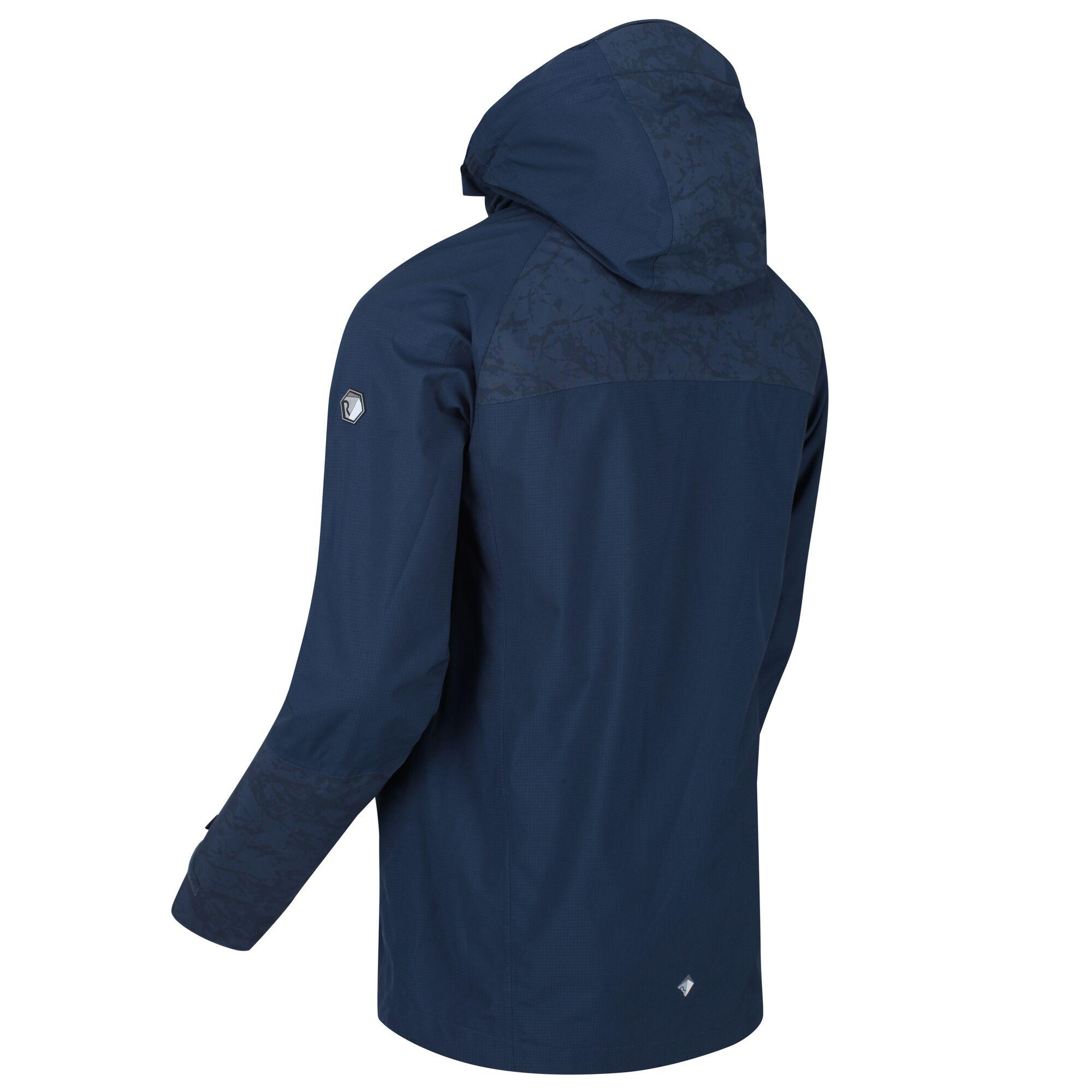 Regatta-Men-039-s-Oklahoma-V-Reflective-Waterproof-Hooded-Walking-Jacket-Blue thumbnail 10